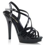 Negro 13 cm Fabulicious LIP-113 sandalias de tacón alto