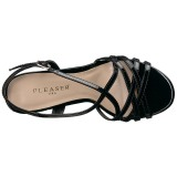 Negro 13 cm Pleaser AMUSE-13 sandalias de tacón alto