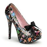 Negro 14,5 cm TEEZE-12-4 Zapatos de tacón altos mujer