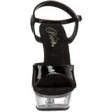 Negro 14 cm SWEET-409 Zapatos de tacón altos mujer