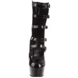 Negro 15,5 cm DELIGHT-1027 Botines de mujer con plataforma