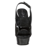Negro 15 cm DELIGHT-654 Zapatos de tacón altos mujer