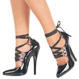 Negro 15 cm DOMINA-456 Zapatos de tacón altos mujer