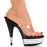 Negro 15 cm Pleaser DELIGHT-601LN Mulas Tacones Altos