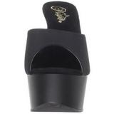 Negro 15 cm Pleaser DELIGHT-601PS Mulas Tacones Altos