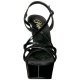 Negro 15 cm Pleaser DELIGHT-613 Sandalias de tacón