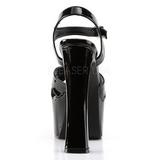 Negro 16,5 cm CANDY-40 Zapatos de tacón altos mujer