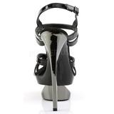 Negro 16,5 cm Pleaser ECLIPSE-621 Cromo Stilettos Tacón de Aguja