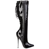 Negro 16 cm DAGGER-2064 botas de mujer tacón altos