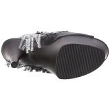 Negro 18 cm ADORE-1024RSF botines con flecos de mujer tacón altos