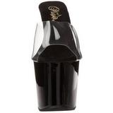 Negro 18 cm Pleaser REVOLVER-701 Plataforma Mules Altos