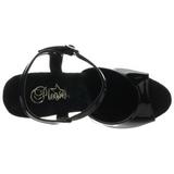 Negro 18 cm REVOLVER-709 zapatos tacón forma de pistola