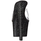 Negro 18 cm SKY-301MG brillo plataforma zuecos de tacón