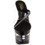 Negro 18 cm SKY-303LN Plataforma Mules Calzado