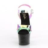 Negro 18 cm SKY-320MMR brillo plataforma sandalias de tacón alto