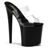 Negro 20 cm Pleaser FLAMINGO-802 Mulas Tacones Altos
