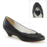 Negro 4 cm LULU-05 Pinup zapatos de salón tacón bajo