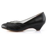 Negro 4 cm retro vintage LULU-05 Pinup zapatos de salón tacón bajo