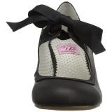 Negro 6,5 cm WIGGLE-32 Pinup zapatos de salón tacón ancho