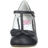Negro 6,5 cm WIGGLE-50 Pinup zapatos de salón tacón ancho
