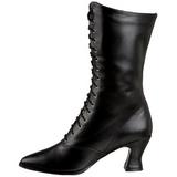 Negro 7 cm VICTORIAN-120 Botines de cordones de mujer