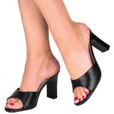Negro 8,5 cm Fabulicious ROMANCE-301-2 Mulas Tacones Altos Mujer