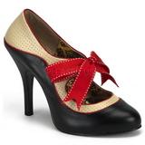 Negro Beige 11,5 cm rockabilly TEMPT-27 Zapatos de tacón altos mujer