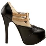 Negro Beige 14,5 cm Burlesque TEEZE-24 Zapatos de tacón altos mujer