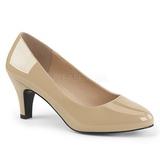 Negro Beige 8 cm DIVINE-420W Zapatos de Salón para Hombres