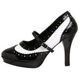 Negro Blanco 10,5 cm CONTESSA-06 Zapatos de tacón altos mujer