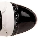 Negro Blanco 10,5 cm EXOTICA-1050 botines con suela plataforma de mujer