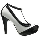 Negro Blanco 11,5 cm BETTIE-22 Zapatos de tacón altos mujer