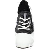 Negro Blanco 11,5 cm SADDLE-48 Oxford Zapatos de tacón altos mujer