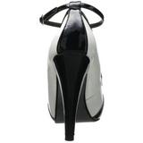 Negro Blanco 11,5 cm retro vintage BETTIE-22 Zapatos de tacón altos mujer