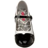 Negro Blanco 11,5 cm rockabilly TEMPT-07 Zapatos de tacón altos mujer