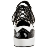 Negro Blanco 11 cm GANGSTER-15 Zapatos de tacón altos mujer
