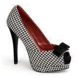 Negro Blanco 13,5 cm BELLA-11 Plataforma Zapatos de Sal�n