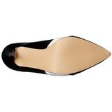 Negro Blanco 13 cm AMUSE-26 Zapatos de tacón altos mujer