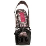Negro Blanco 14,5 cm Burlesque TEEZE-17 Zapatos de tacón altos mujer