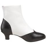 Negro Blanco 5 cm FLORA-1023 Botines Altos Mujer