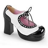 Negro Blanco 9,5 cm Demonia GOTHIKA-10 Plataforma Zapato de Salón