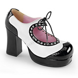 Negro Blanco 9,5 cm Demonia GOTHIKA-10 Plataforma Zapatos de Sal�n