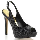 Negro Brillo 12 cm LUMINA-28G Zapato Salón para Fiesta con Tacón