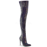 Negro Brillo 13 cm COURTLY-3015 botas altas pleaser
