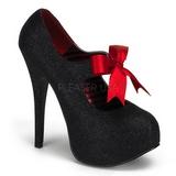 Negro Brillo 14,5 cm Burlesque TEEZE-04G Zapatos de tacón altos mujer