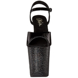 Negro Brillo 20 cm FLAMINGO-809MG Tacones Altos Zapatos Plateau