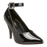 Negro Charol 10,5 cm DREAM-431 zapatos de salón tacón bajo