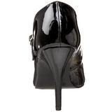 Negro Charol 10,5 cm VANITY-440 zapatos de salón tacón bajo