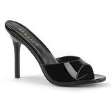 Negro Charol 10 cm CLASSIQUE-01 zapatos de zuecos tallas grandes