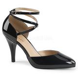 Negro Charol 10 cm DREAM-408 zapatos de salón tallas grandes